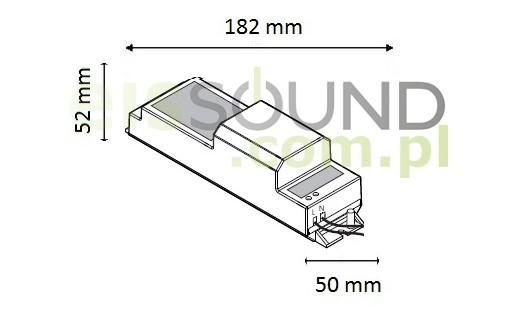 kb sound basic schemat wymiarów radia