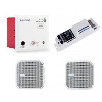 """Podtynkowy odbiornik Bluetooth z głośnikami kwadratowymi 2,5"""""""