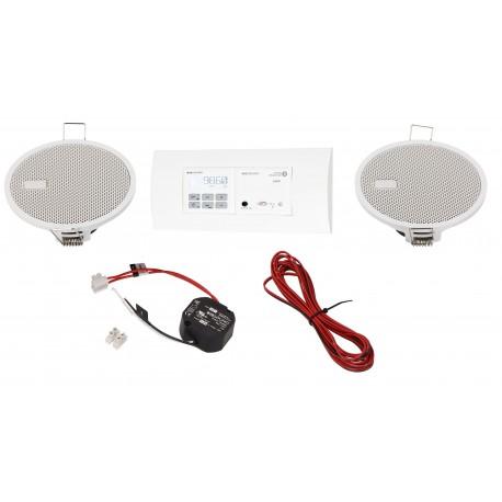 KB Sound Zestaw Audio Receiver Odtwarzacz Bluetooth In-Wall + Radio Dab Czarny Z Głośnikami 2.5 52957+32852+19154
