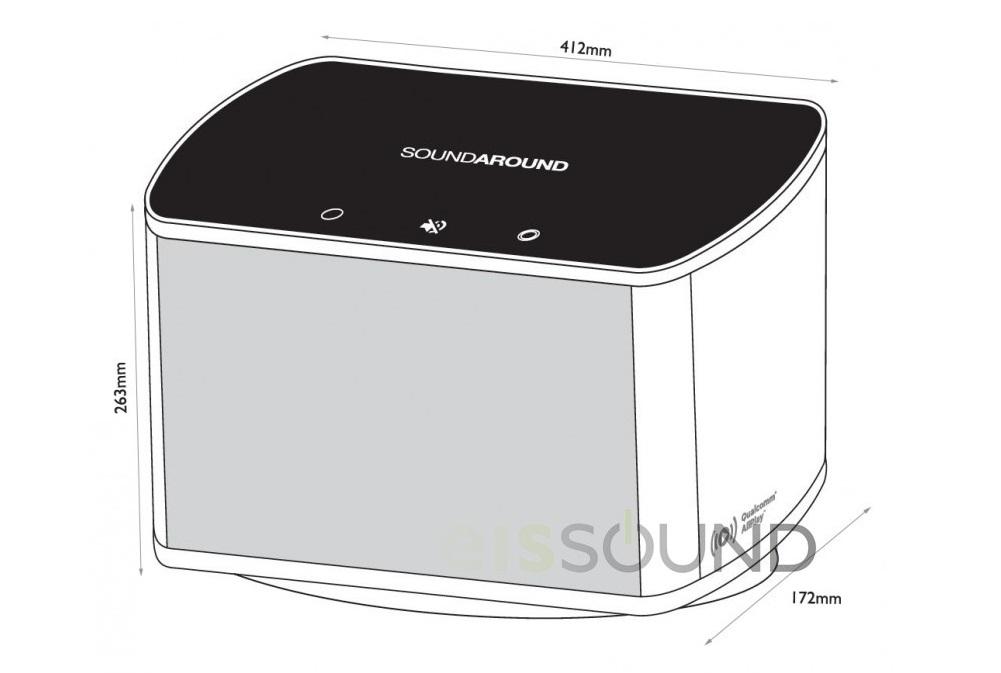 wymiary głośnika wifi soundaround Eis Sound