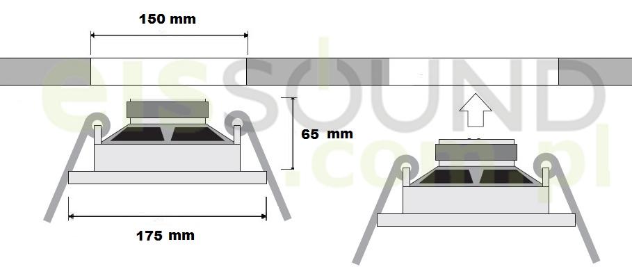 wymiary głośników sufitowych radia kuchennego iselect