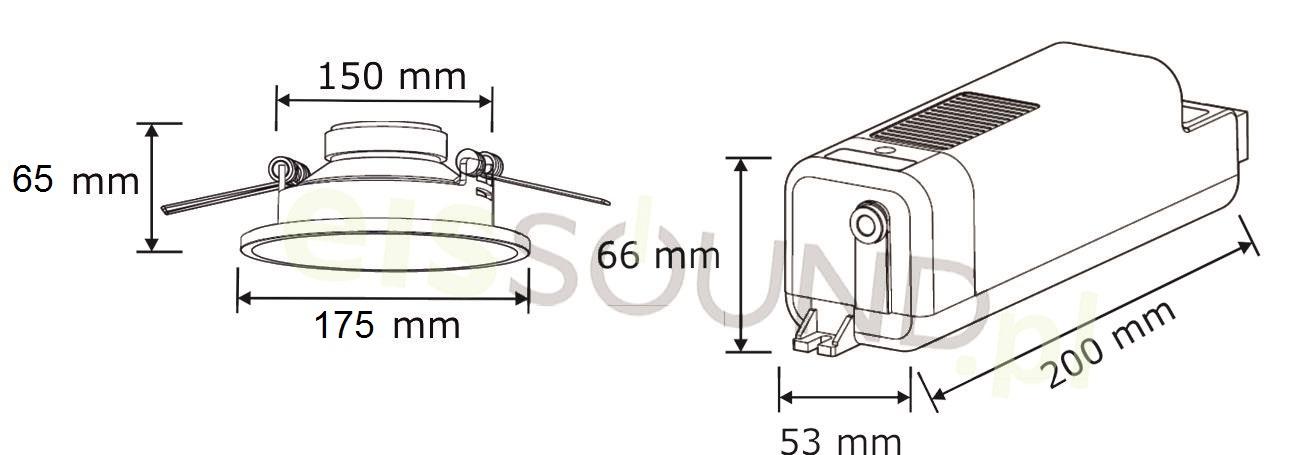 głośniki 5 calowe do zabudowy w suficie
