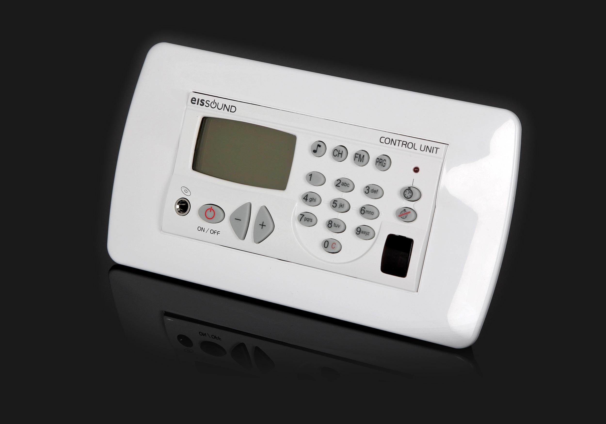 KB Sound Premium radio do montażu ściennego w łazience z głośnikami sufitowymi