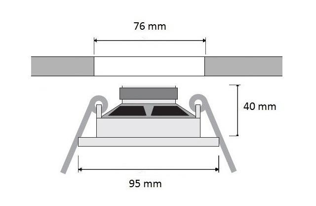 Głośnik Eis Sound 2,5 calowy do montażu w suficie podwieszanym