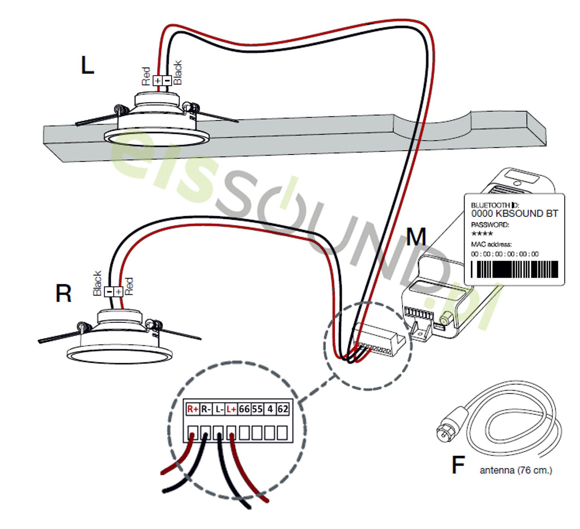 schemat podłączenia radia łazienkowego Select BT