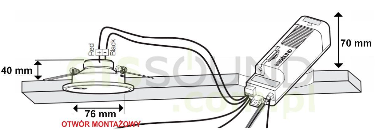 Eis Sound montaż głośników 2,5 calowych